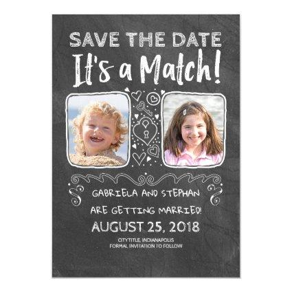 Funny Photo Save the Date - It's a Match Magnetic Invitation