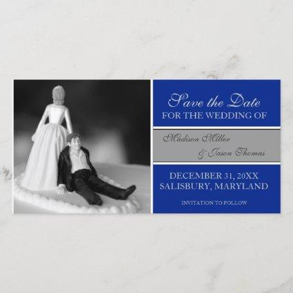 Funny Save the Date Announcements {Royal Blue}