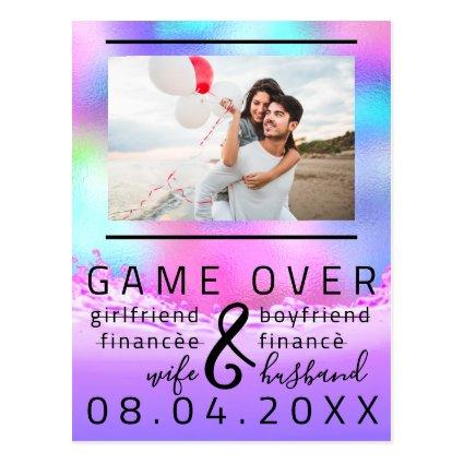 Funny Save The Date Couple Photo Beach Tropic
