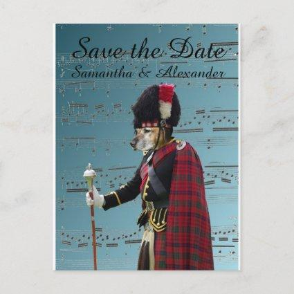 Funny Scottish wedding save the date Announcement