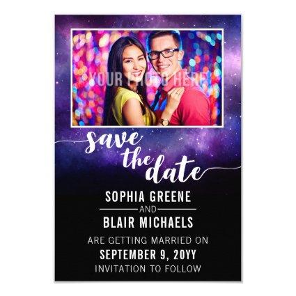 Galaxy Wedding Written In The Stars Save The Date Invitation