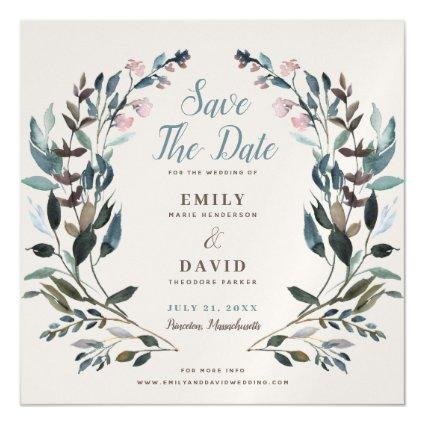 Garden Crest | Eggshell | Wedding Save The Date Magnetic Invitation