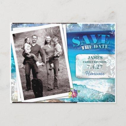 GC | Save the Date Family Reunion-Vintage Beach Announcement