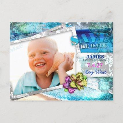 GC Save the Date Family Reunion Vintage Beach v2 Y Announcement
