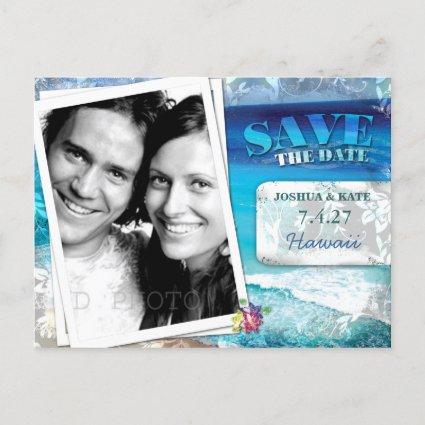 GC | Save the Date-Vintage Beach Announcements Cards