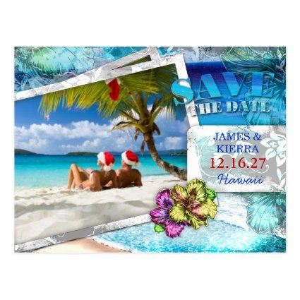 GC Tropical Wedding Save the Dat Vintage Beach v 2 Cards