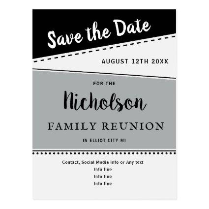 Geometric Black Gray Family Reunion