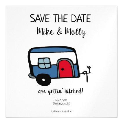 Gettin' Hitched Save the Date Magnetic Invitation