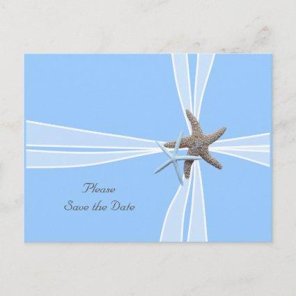Gift Box Starfish Save-the-Date Cards