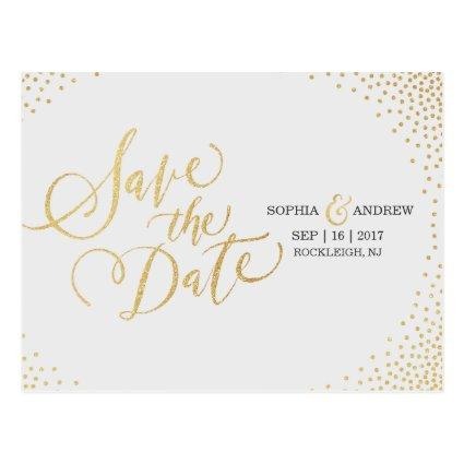 Glam faux gold glitter calligraphy