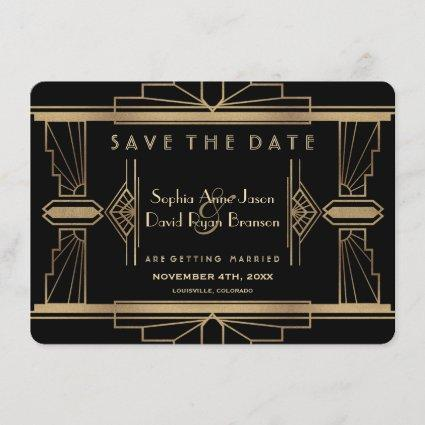 Glamorous Roaring 20's Great Gatsby Save The Date
