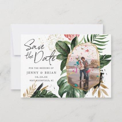 Glamorous Summer Greenery | Photo Save the Date