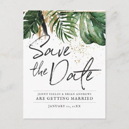 Glamorous Summer Greenery Wedding | Save the Date Announcement