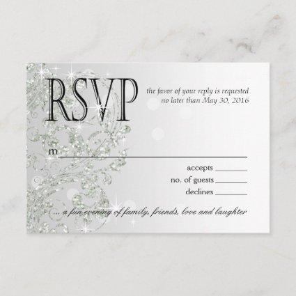 Glamour Glitter Luxe Ombre RSVP | silver ice