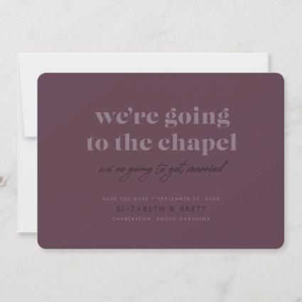 Going to the Chapel Save the Date (Cassis)