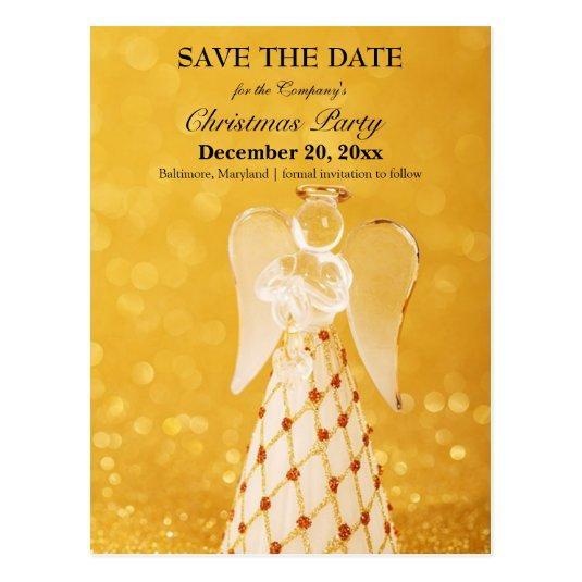 100 gold angel save the date christmas office party cards - Whens Christmas