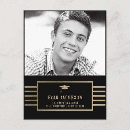 Gold Cap EDITABLE COLOR Graduation Cards