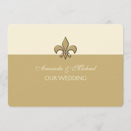 Gold Fleur De Lis Save The Date Cards Save The Date Cards