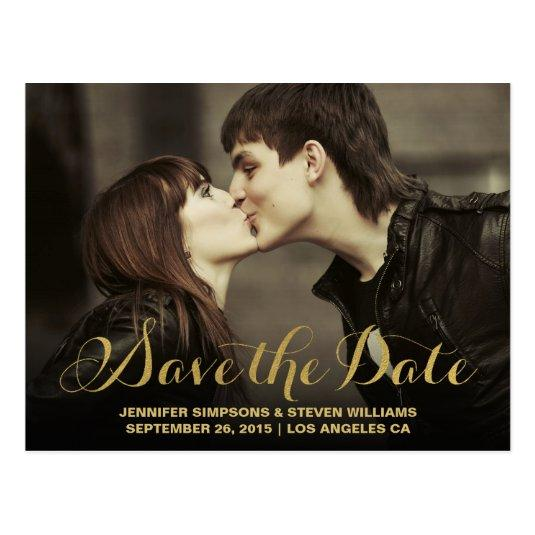 GOLD FOIL   SAVE THE DATE Announcements Cards