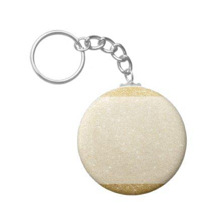 gold glitter blank template for customization keychain