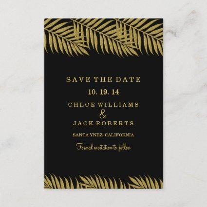 Gold Palm Tree Tropical Wedding Save The Date
