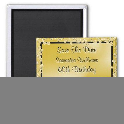 Gold Princess Coach & Horses Save The Date 60th Magnet