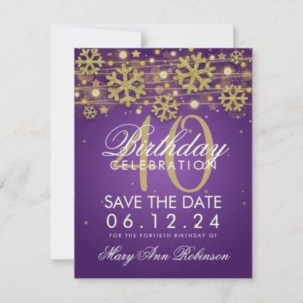 40th Birthday Party Save The Date Cards Save The Date Cards