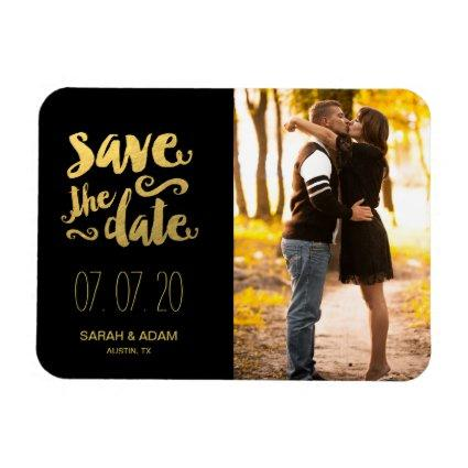 Gold Save Our Date | Save the Date Magnet