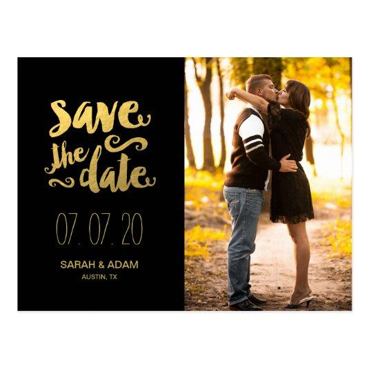 Gold Save Our Date