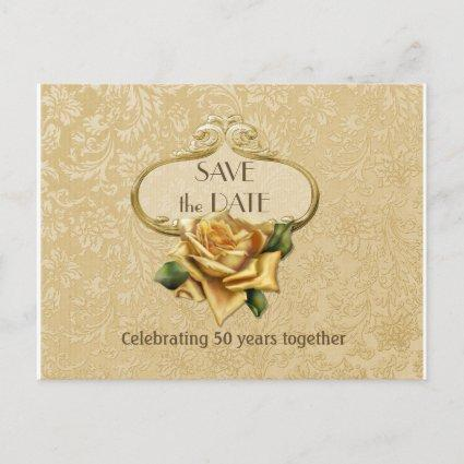 Golden Rose 50th Anniversary Save the Date Announcement