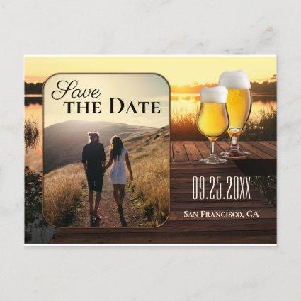 Golden Sunset Beer Save the Date Photo