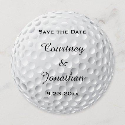 Golf Ball Sport Wedding Save The Date Announcement