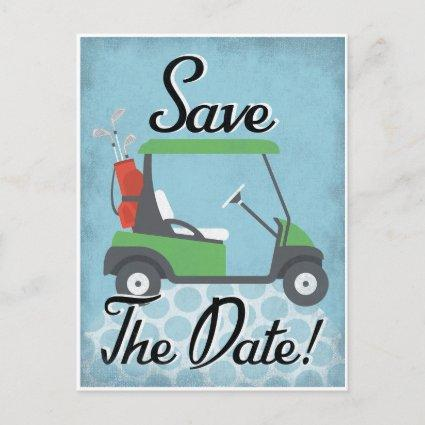 Golf Save The Date - Golf Party Golfing Event Announcement