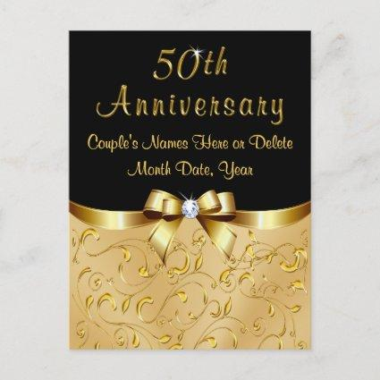 Gorgeous 50th Anniversary Save the Date Post