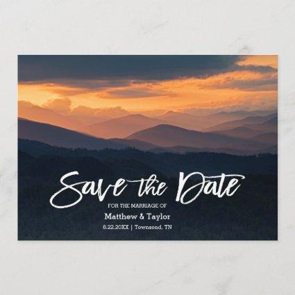 Gorgeous Mountain Sunrise Wedding Save The Date