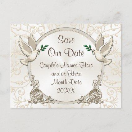 Gorgeous Save Our Date Customizable Colors, Text Announcement