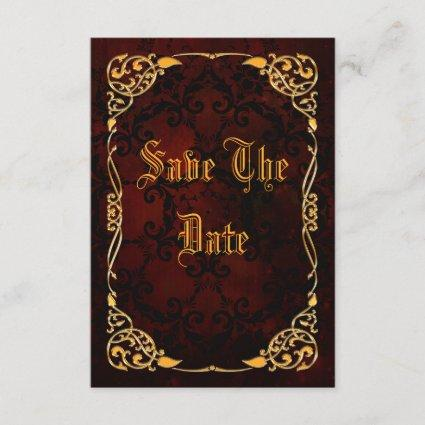 Gothic Gold Framed 60th Birthday Save The Date