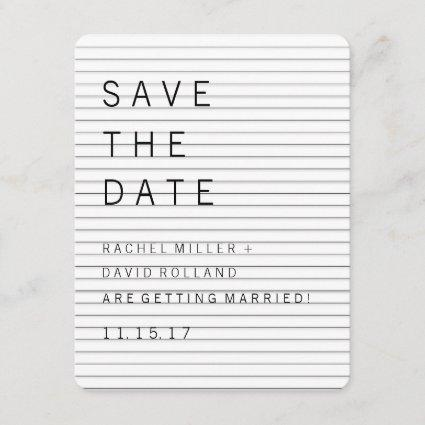 Gothic Modern Save the Date