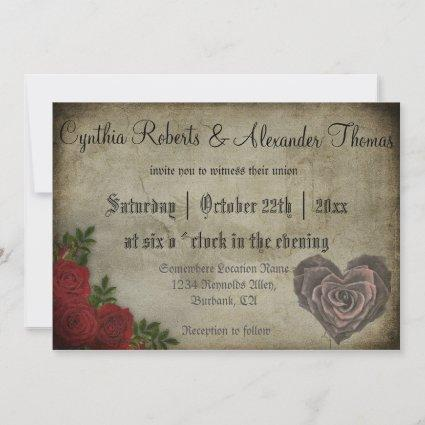 Gothic Roses And Mediaeval Letters Save The Date