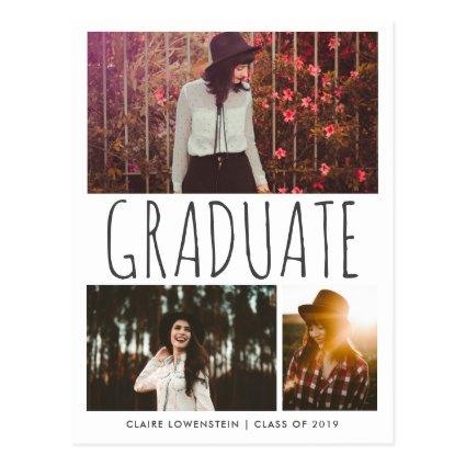 Graduate Typography | Photo | Save The Date Cards