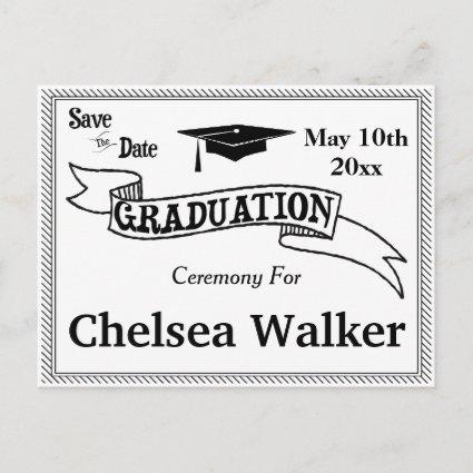 Graduation Ceremony Or Party Save The Date Announcements Cards