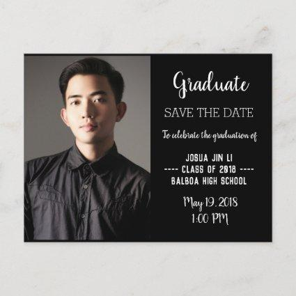 Graduation Modern Photo Save The Date Announcements Cards