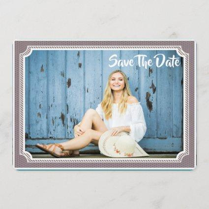Graduation Photo Cards Modern Vintage Save The Date