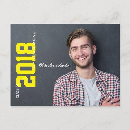Graduation Cards Announcements  | Yellow