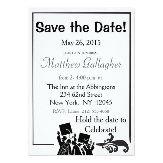 Graduation Save the Date 5x7 Paper Invitation Card