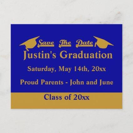 Graduation Save The Date Cards Gold