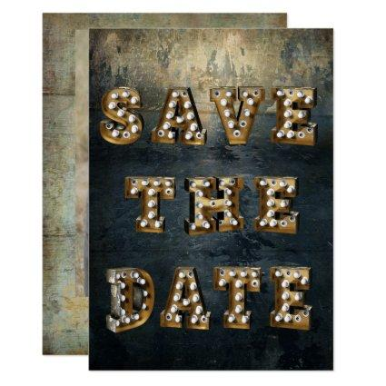 Graduation Save The Date Marquee Theater Lights Invitation