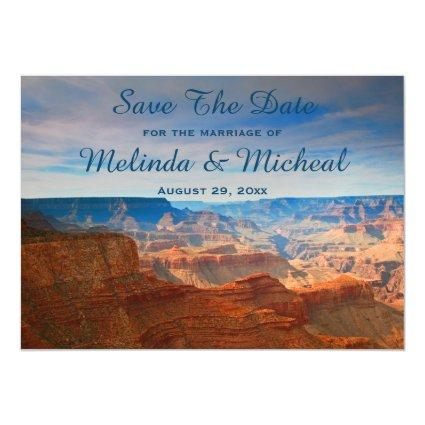 Grand Canyon Nature Save The Date Wedding Magnetic Invitation