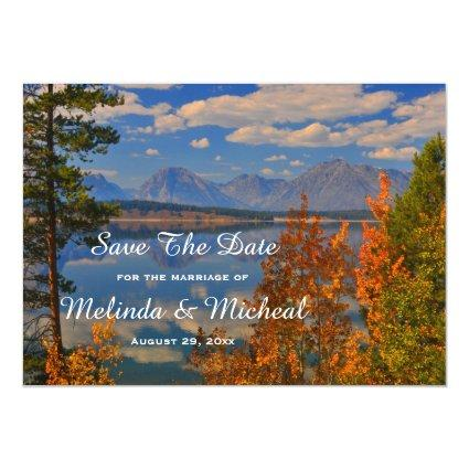 Grand Teton Country Fall Save The Date Wedding Magnetic Invitation