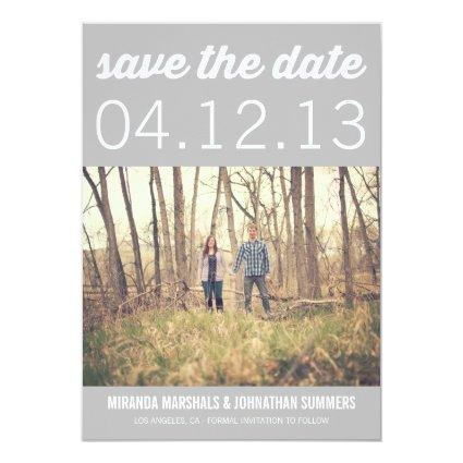 Gray Chic Photo Save The Date Announcements